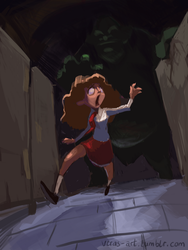 Hermione And The Troll by vmtr89