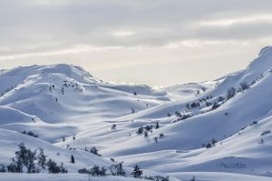 Snowy mountains by zipfileART