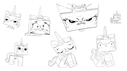 Lego - The Many Faces of Unikitty by rmsaun98722