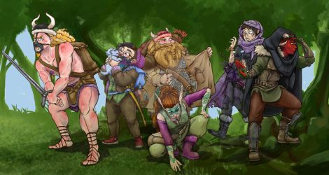 dungeons and dragons party by gingerbreadart