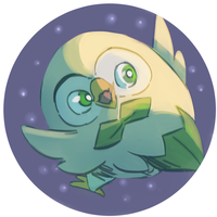 Daily Doodle: Rowlet by CountDraggula