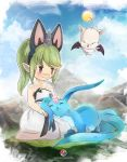 FFXIV: Lalafell and carbuncle by Milee-Design