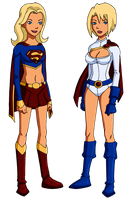 YJ: Supergirl and Power Girl by Glee-chan