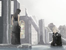 FF7 AC: Tifa and Cloud by gravity-zero