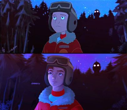 The Iron Giant Scene Redraw by Greesty