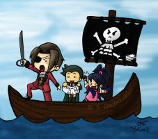 The Prosecutorial Pirates by Chibidoodles