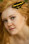portrait with butterfly by s27w