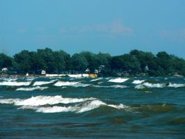 Waves on Lake Erie by j-a-x