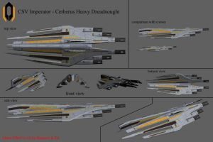 CSV Imperator - Cerberus Heavy Dreadnought Concept by reis1989