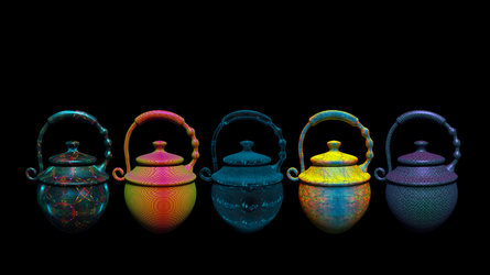 Colorful 5 Urns II by Lynxette79