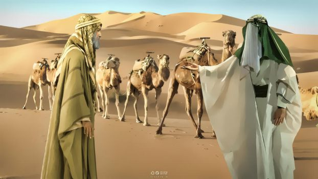 Imam Musa Kazim and Camel Holder by miladps3
