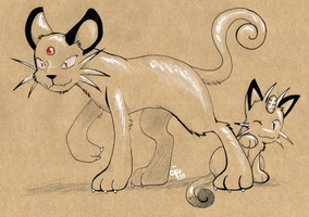 Craft Persian and Meowth