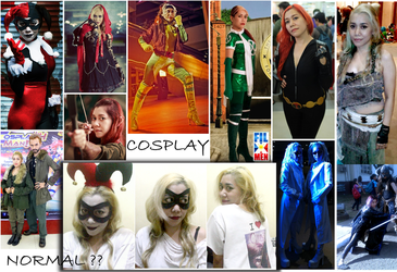 Normal vs Cosplay by rafia