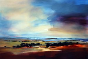 Panoramic Landscape-150x100cm by SaraPaxtonArtworks