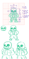 Sans - research and practice sheet by Minks-Art