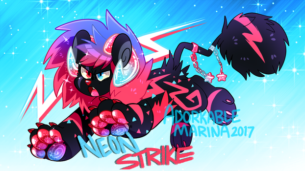 DANDYLYON QUICK ADOPT- Neon Strike Auction [SOLD!] by AdorkableMarina