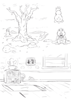 Misc Background Sketches from 7/14/16 by GeorgeRottkamp