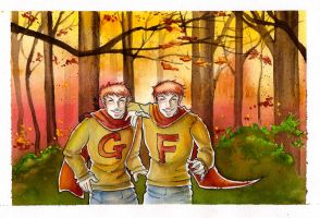 Commission: Weasley Twins by The-Starhorse