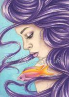 Ocean Beauties ACEO by Zindy