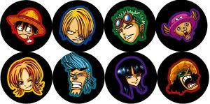 Straw hat badges by F-ocube