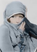 Greta Garbo in blue by Linnea-Rose