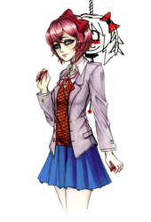Sayori - It's Bittersweet by SketchMeNot-Art
