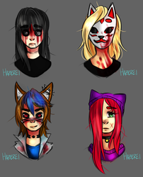 CREEPYPASTA  OCS REQUEST by Hazerei
