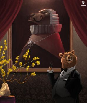 Bartholomew the Butler Bear by BoxHeadStudio