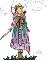 The Legend of Zelda Wii U - Princess Zelda by Little-Birds-Art