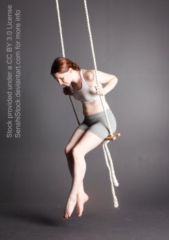 Figure Model Pose Reference Swing Looking Down by SenshiStock