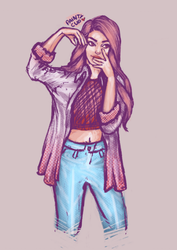 OOTD practice  by painty-teacup