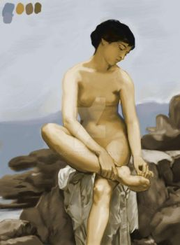 WIP The-bather-1879-colorcopy by vicmonty