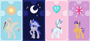My new next gen mlp princes and princess by theponygaming