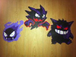 Gastly evolutions complete by Birdseednerd