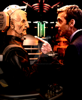 The 12th Doctor Faces Davros by HappyRussia