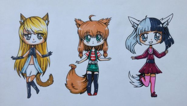 Chibi adoptables - 25 each OPEN by FeverFox