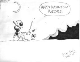 Deadpool's LOVELY Halloween by TheShad0wF0x