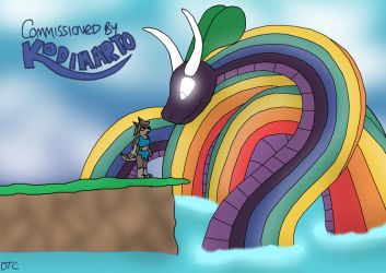 Aleu and the Rainbow Snake by Dan-the-Countdowner