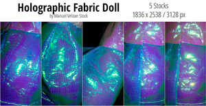 Holographic Fabric Doll Pack - 5 Stocks by manuelvelizan