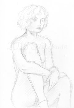 nude drawing class. pose 03 by Sillageuse
