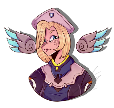 Mercy-Uprising [Overwatch] by xSiphyx