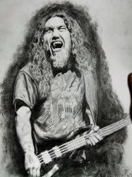 Tom Araya Slayer drawing by Kilicz
