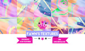 Icon Texture Pack #3: Unicorn Blood by fawngeneva