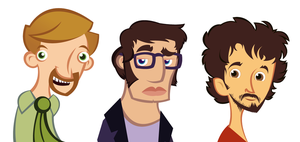 Flight of the Conchords by raisegrate
