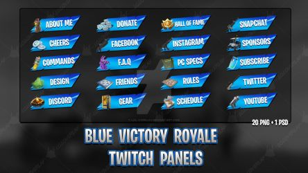 [BLUE] Victory Royale 2018 - Twitch Panels by lol0verlay