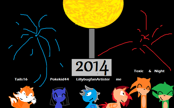 2014 Happy New Year!!! by InkMixer12100