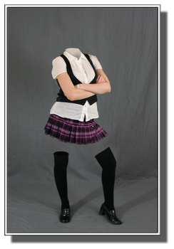 Angry Invisible Schoolgirl by misterdoe