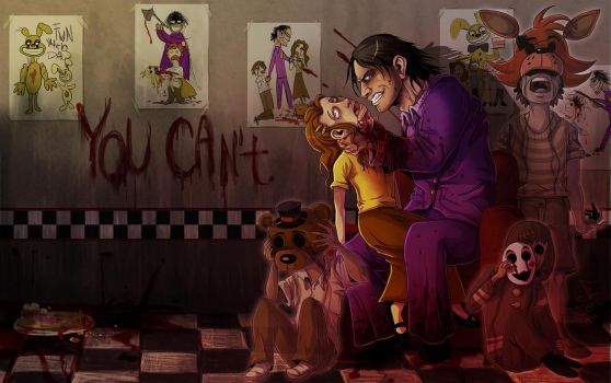 FNAF - You Can't wallpaper by LadyFiszi