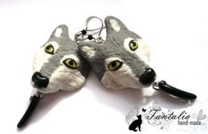 Earrings 'Wolf's claw' by Tantalia