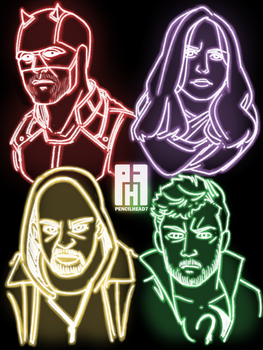 Netflix's The Defenders by pencilHead7